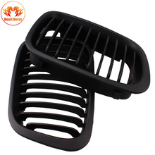 Car Styling Grill Front Replacement Matte Black Kidney Grille For BMW 3 Series Sedan E46 320i 323i 325i 328i 330i 4 Door