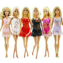 3 Pcs =1 Set Sexy Pajamas Lingerie Lace Costumes + Bra + Underwear Dress Clothes for Barbie Doll Clothes Accessories Girl Toy(Китай)