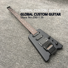 New Headless Electric Guitar,Double roll electric guitar Finish the Black body , Black Hardware, Real photo show,Wholesale(China)