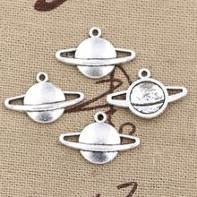 99Cents 12pcs Charms saturn planet spark 20*13mm Antique Making pendant fit,Vintage Tibetan Silver,DIY bracelet necklace
