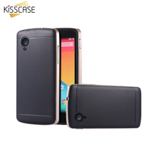 KISSCASE For LG Google Nexus 5 N5 E980 Case Ultra Hybrid Hard Back Armor Case For Nexus 5 With Logo Phone Accessories Cover Capa
