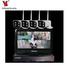 YobangSecurity 4CH 960P WIFI 10 Inch NVR Wireless Network Camera System IP Surveillance Camera Kit CCTV Security System