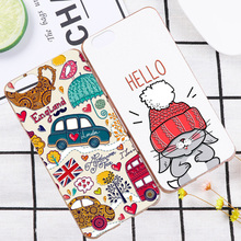For iPhone 4 4S SE 5 5C 5S 6 6S 7 Plus 3D Relief Cute animal Patterns Skin Hard Case Cover For Apple iPod Touch 4 5 6 Shell