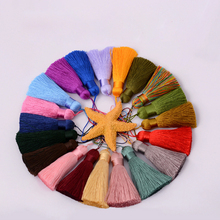 7cm Mixed color Silky tassel Fringe Decorative Tassel New DIY Accessories For Jewelry Garment Curtain Craft(China)