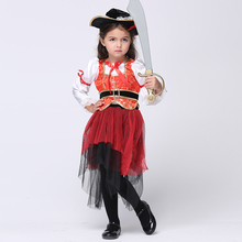 Children's Halloween Costume Pirate Skirt For Girls Pirate Suit For Cosplay Kids' Party Dress