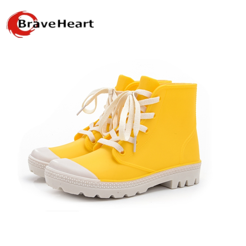 2017 outdoor candy color  boots female fashion short tube rain boots 35-40 plus size waterproof shoes for women<br><br>Aliexpress