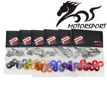 FREESHIPPING JDM Style Aluminum 19MM Fender Washers and Bolt for Honda Civic Integra RSX EK EG DC 1 set=8pcs(China)