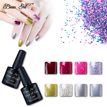 Buy Newest Beau Gel Bling Nail Lacquer Semi Permanent Color Paint Nail Polish Long Lasting UV Nail Varnish Nagellak Pro Manicure for $1.35 in AliExpress store