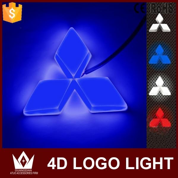 Guang Dian car led light  front Car Emblem light 4d car badge auto led logo light EL cold light logo for Mitsubishi asx For cuv<br><br>Aliexpress