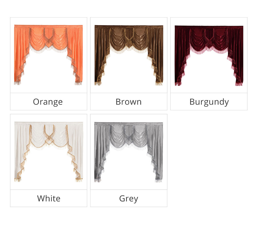 ZSBQ-BMD NAPEARL Luxury Valance Curtains Short Solid Color Drops For Bedroom European Style Semi Shade Fabric Elegant Panel Decor Rustic (1)