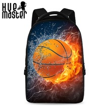 HUE MASTER 17inch ice and fire pattern cool creative school backpack men and women universal laptop bag can store 15 inch laptop