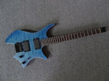 2016 New + Factory + blue Headless Strandberg Boden OS6 electric Guitar Free shipping 6 strings Strandberg Boden quilted guitar(China)
