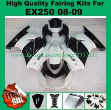 Free screws+gifts Injection mold for Kawasaki Ninja 250R Fairings kit 2008-2014 model ZX250R EX250R 08 09 White Black(China)