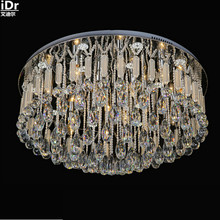 Round high-grade low-voltage lights crystal clear light glass rod LED Crystal Light Ceiling Lights fashion(China)