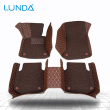 LUNDA Car floor mats for Audi S3 S5 S6 S7 S8 A1 A3 A4 A5 A6 A7 A8 Q3 Q5 SQ5 Q7 TT TTS Left hand drive Two layers of Carpets