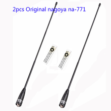 2pcs 100% Genuine Original Nagoya NA-771 Dual Band VHF/ UHF SMA-F Female baofeng Antenna for WOUXUN Kenwood radio nagoya antenna(China)