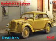 New Arrivial! ICM model 35478 1/35 Kadett K38 Saloon, WWII German Staff Car plastic model kit(China)