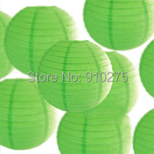 "24 pcs/lot 12"" Lime Green Chinese Paper Lanterns Baby Shower Wedding Birthday Party Decoration Kids Holiday Supplies(China)"