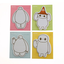 1 Piece Lytwtw's New Cartoon Memo Stickers Sticky DIY Notes Scratch Pad Cute Animal Posted Schedule Stationery Baymax Message