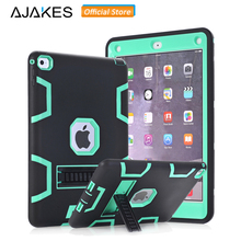 Hybrid Case for iPad Air 2 AJAKES Kids Safe Shockproof Heavy Duty Armor Rugged Drop Resistance 3-IN-1 Silicone Hard Case Cover(China)