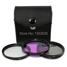 3Pcs 30mm 30 mm UV CPL FLD Filter Kit For Canon Nikon Sony Olympus Pentax Digital Camera Lenses Camcorder Cam DV 18-55mm Lens