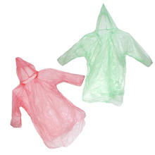 5Pcs Plastic Women Men Universal Emergency Disposable Poncho Raincoats Disposable Single-person Rain Wear for Outdoor Events(China)