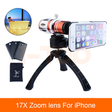 Buy Mobile Camera Lenses Kit 17x Optical Zoom Lentes Telephoto Telescope Lens iPhone 5s se 6 6s 7 8plus Tripod Phone Cases for $38.99 in AliExpress store