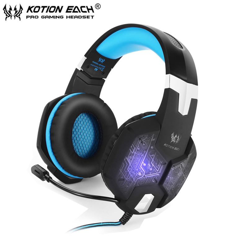 Kotion EACH G1000 Gaming Headphone Best Stereo PC Gamer Game Headset casque with Microphone / LED Light <br><br>Aliexpress