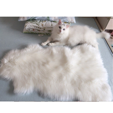 Long Faux Fur High Density Artificial Sheepskin Fluffy Chair Seat Sofa Cover Carpet Mat Area Rug Bedroom Home Decoration White(China)