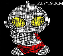 2pc/lot Cartoon character hot fix rhinestones motif iron on rhinestones applique patches for shirt baby clothes design stone