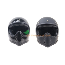 Japan Thompson Motorcycle Helmet for Harley Cruise Spirit Rider Retro Ghost Helmets Glass Fiber Full Face Helmet can add goggles(China)