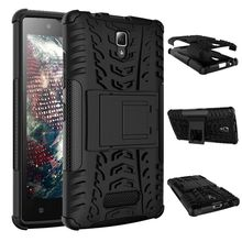 New arrival 8 Colors Heavy Duty armor stand case Shockproof Skin Back Cover for Lenovo A2010 Complete Edge Protection case(China)