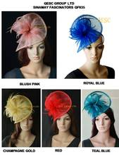 NEW HOT fascinator/sinamay fascinator/sinamay hat in SPECIAL shape with feathers for hair accessory/races/church/wedding/party(China)