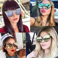 BAMONA High Quality New Oversize Cat Eye Sunglasses Women Fashion Summer Style Big Frame Mirror Sunglasses Female Oculos UV400