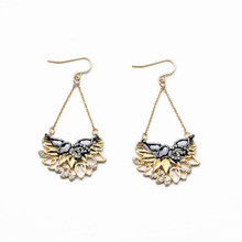 Costume Jewelry New Arrival Factory Direct Wholesale Cut Flowers Major Suit Super Flash Earrings(China)