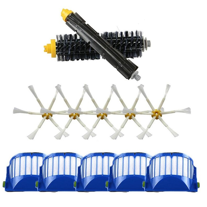 Aerovac Filter &amp; Bristle and Flexible Beater Brush for iRobot Roomba 600 610 630 650 660 Vacuum Cleaner Side Brush<br><br>Aliexpress