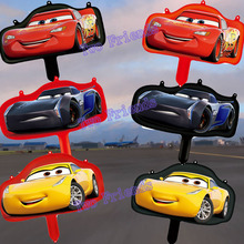 6pcs/lot Mini racing car Aluminum foil balloons 3D cute car yellow red black party supplies birthday party decorations kids toys(China)