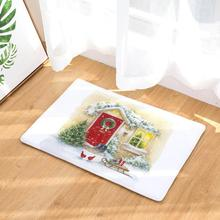 Christmas Home Non Slip Door Floor Mats Hall Rugs Kitchen Bathroom Carpet Decor Home Use 2017 o12 Free Shipping(China)