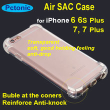 PCTONIC air sac airbag anti-shock soft clear transparent case corner bubble protection back cover for iphone 6 6S 7 7 plus