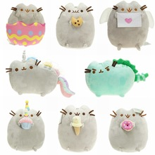 New 2017 Kawaii Brinquedos Pusheen Cat Angel Cookie & eggshell & Doughnut Stuffed & Plush Animals christmas Toys for Girls