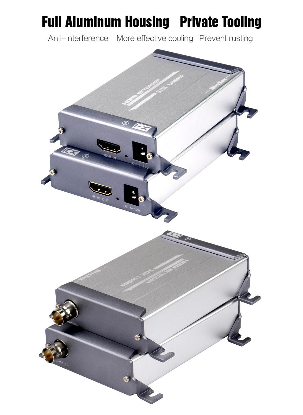 HSV379 HDMI Extender Over Coaxial Cable With No Latency Time And Video Lossless HDMI Coax Transmitter and receiver By RG596U (3)