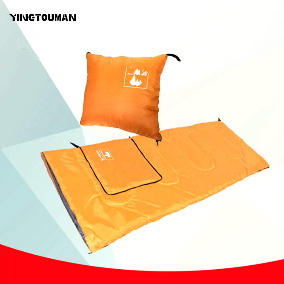 YINGTOUMAN 3 In 1 Outdoor Camping Travel Hiking Sleeping bag Adult Warm Sleeping Bags  Hiking Camping Envelope Sleeping Pad <br>