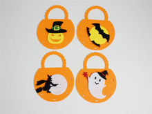 Lovely Halloween Party Trick Or Treat Pumpkin Bag Kids Gift Loot Sweets Candy Tote Bag(China)