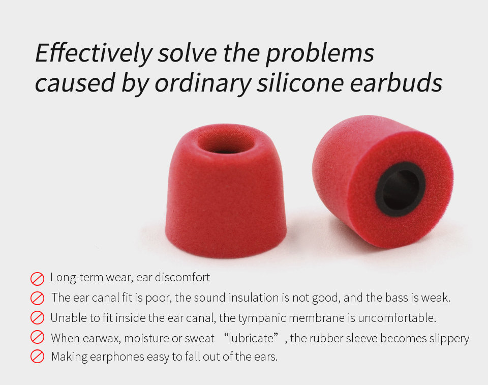 KZ_New_Upgrade_Original_3Pair_(6pcs)_Noise_Isolating_Comfortble_Memory_Foam_Ear_Tips_Ear_Pads_Earbuds_For_In_Earphone_Headphones_Red_Blue (7)