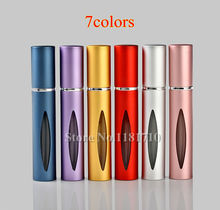 Wholesale 10ml Roll on Bottle Metal Roller Ball Refill Empty Glass Vials for Essential Oils Eye Massage Perfumes(China)