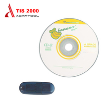 2016 Lowest Price TIS2000 CD and USB KEY for GM TECH2 for GM Car Model for GM TIS2000 TIS 2000 Software USB dongle free shipping(China)