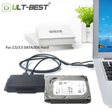 ULT-Best SATA USB 3.0 IDE Adapter Cable Hard Disk Driver SATA to USB Converter for 2.5/3.5/5.25 Optical Drive HDD SSD With Power(China)