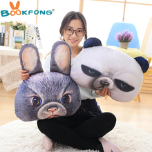 2017 cartoon 3D Animal head creative toy car decorative pillows almofada coussin cushion pouf cojines decorativos valentine gift(China)