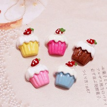 100pcs 15mm 5 Colors DIY Resin Ice cream Charms Jewelry Fit Mobile Phone Hairpin Headwear DIY Accessories 18x25mm
