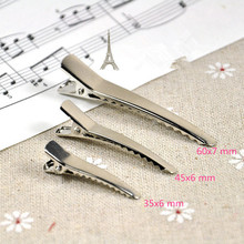 50pcs 35mm 45mm 60mm Alligator Hair Clips Headwear Barrette Metal Clips Girls Hairpin for DIY Hair Accessories